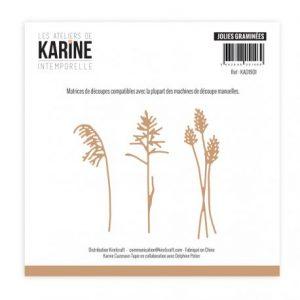 Troquel Jolies graminees Les ateliers de Karine | Marakiscrap.com