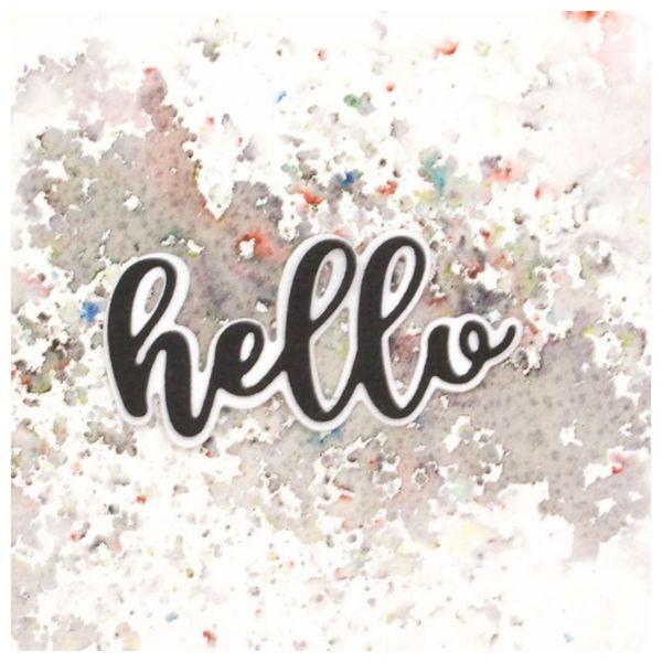 Troquel mas sello Hello 2