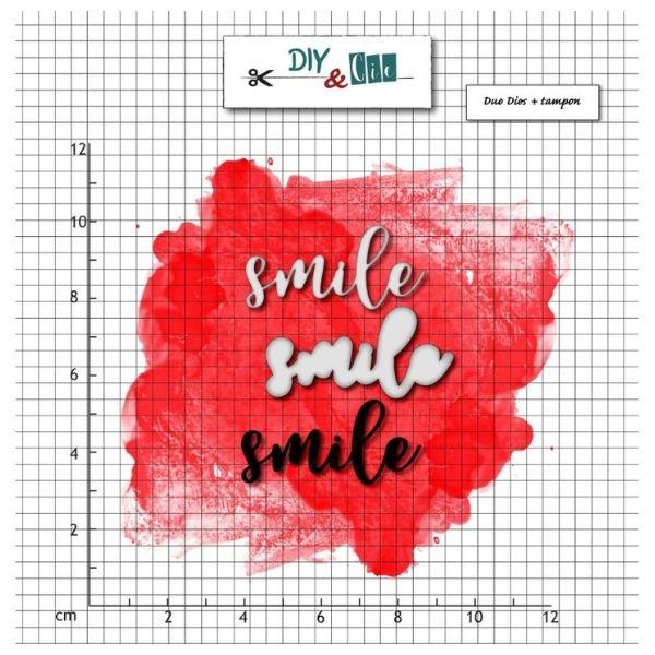Troquel mas sello Smile