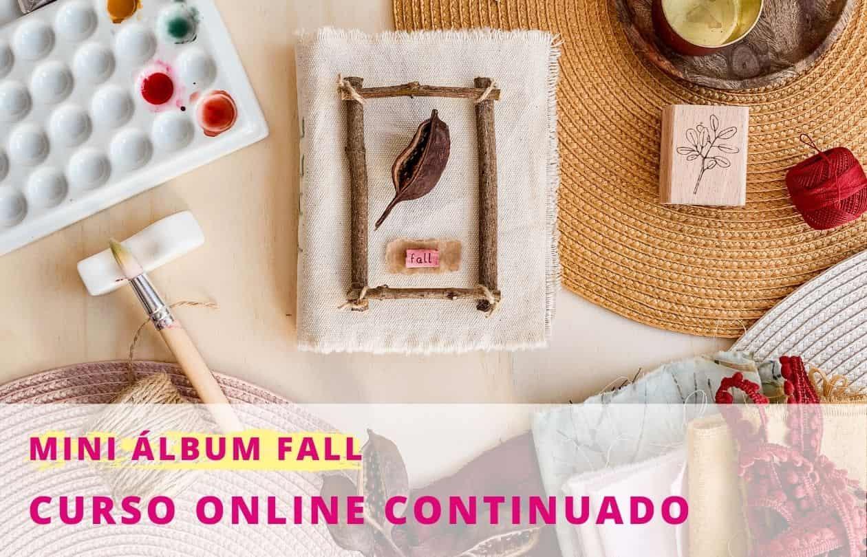 Taller online mini album de otoño | Marakiscrap.com