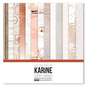 Coleccion de papeles Esprit Boheme Les Ateliers de Karine