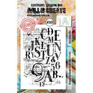 Sello acrilico Bold Alphas Mini Aall and Create 349