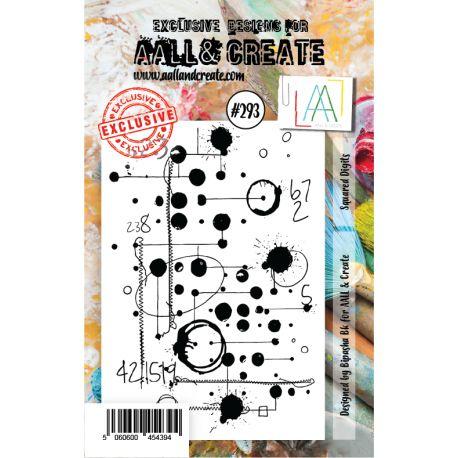 Sello acrilico Squared Digits Aall and Create 293