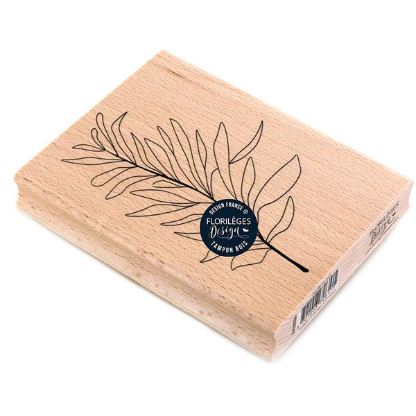 sello de madera feuille au vent florileges design 1   Marakiscrap.com