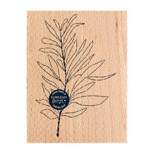 sello de madera feuille au vent florileges design | Marakiscrap.com