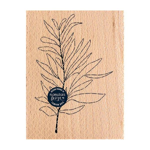 sello de madera feuille au vent florileges design   Marakiscrap.com