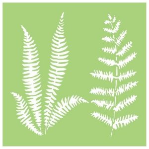 Stencil Ferns Kaisercraft