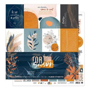coleccion de papeles or saison florileges design | Marakiscrap.com