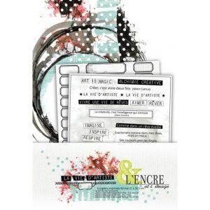 Coleccion de papeles la vie dartiste lencre et limage | Marakiscrap.com