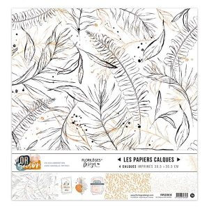 Coleccion vellum or saison florileges design | Marakiscrap.com