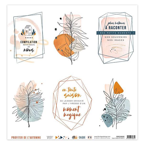 Coleccion vellum or saison florileges design 4 | Marakiscrap.com
