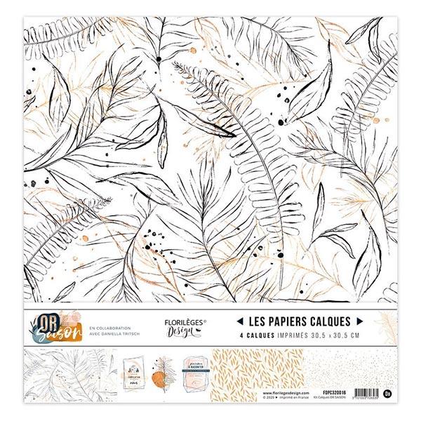 Coleccion vellum or saison florileges design | Marakiscrap.com