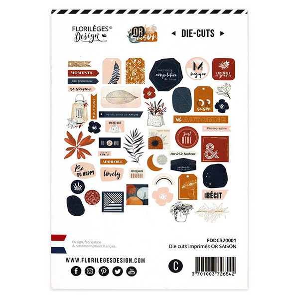die cuts or saison florileges design 1 | Marakiscrap.com