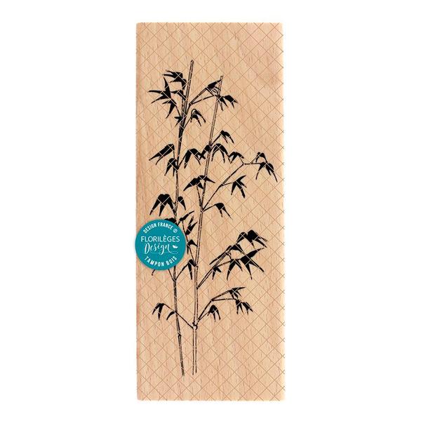 Sello de madera Bambou Florileges Design | Marakiscrap.comn