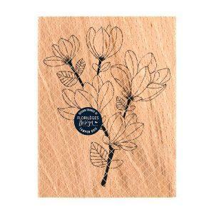 sello de madera branche de magnolia florileges design | Marakiscrap.com