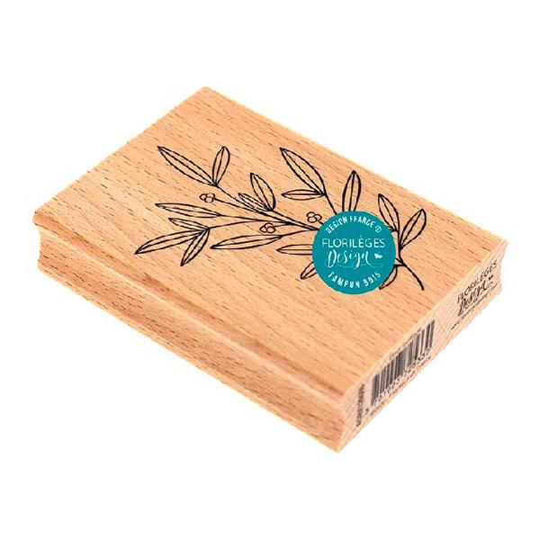 Sello de madera Doux feuillage Florileges Design 1   Marakiscrap.com