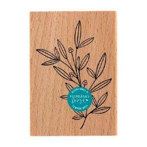 Sello de madera Doux feuillage Florileges Design | Marakiscrap.com