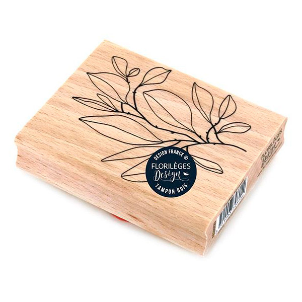 sello de madera feuillage foisonnant florileges design 1   Marakiscrap.com