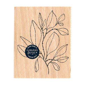 sello de madera feuillage foisonnant florileges design | Marakiscrap.com