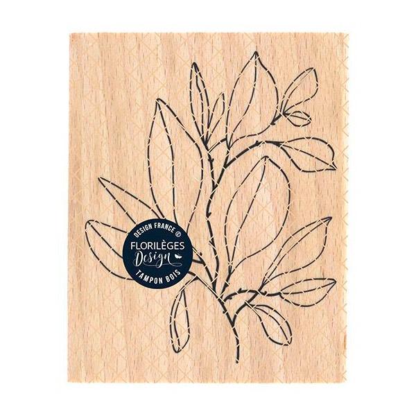sello de madera feuillage foisonnant florileges design   Marakiscrap.com