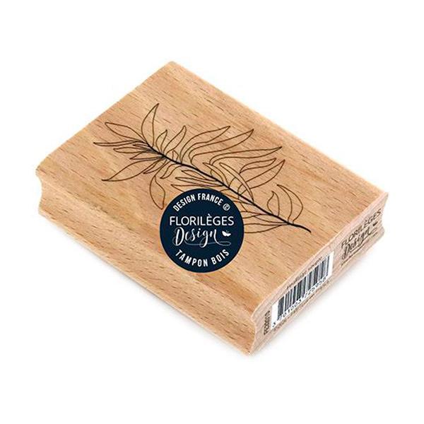 Sello de madera feuillage souple florileges design 1 | Marakiscrap.com