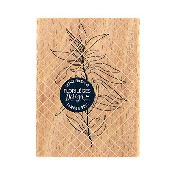 Sello de madera feuillage souple florileges design | Marakiscrap.com