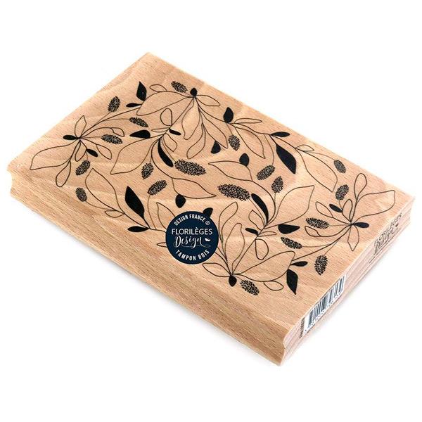 sello de madera feuillages emmeles florileges design 1 | Marakiscrap.com