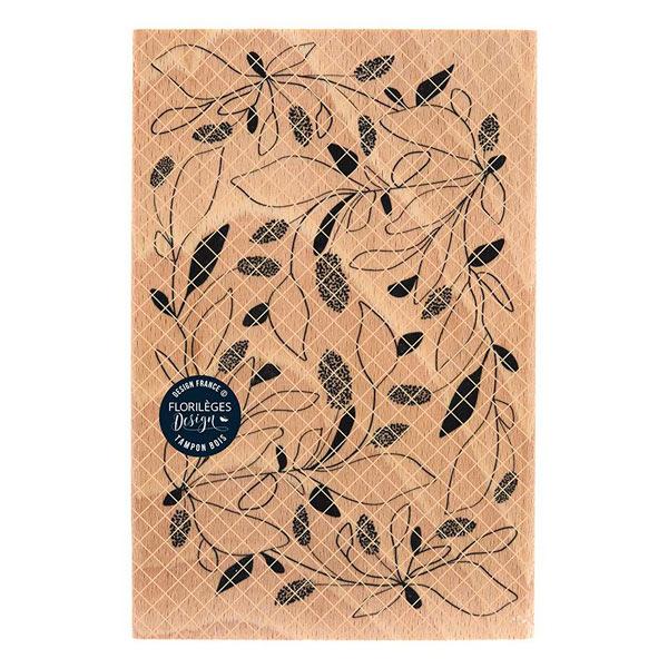 sello de madera feuillages emmeles florileges design | Marakiscrap