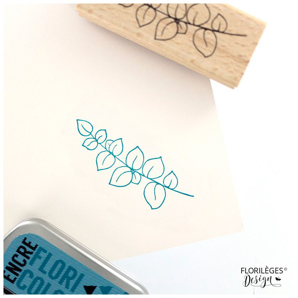 Sello de madera rama doux feuillage Florileges design | Marakiscrap.com