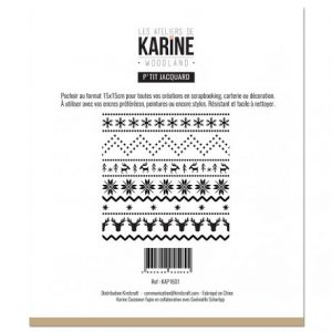 Stencil Woodland Petit jacquard Les ateliers de Karine | Marakiscrap.com