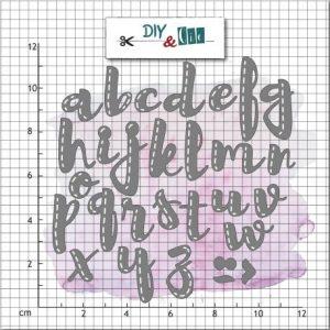 Troquel alfabeto diy and cie