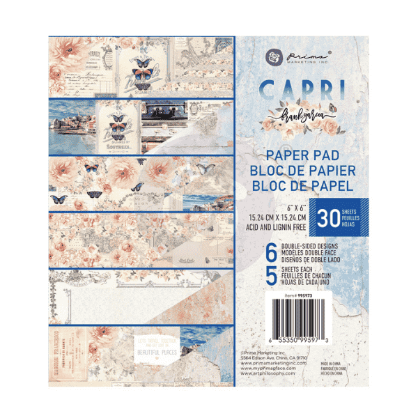 Coleccion de papeles Capri 15x15 Prima Marketing