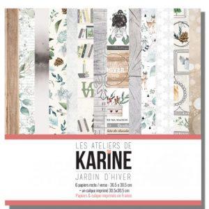 Coleccion de papeles jardin d hiver les ateliers de karine | Marakiscrap.com