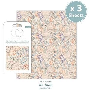 Papel decoupage Air Mail