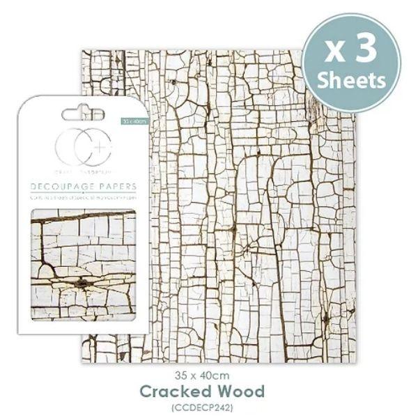 Papel decoupage Cracked Wood