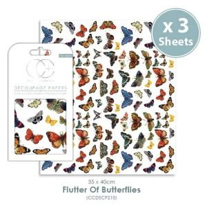 Papel decoupage Flutter of Butterflies