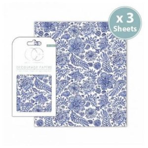 Papel decoupage Indian Blue