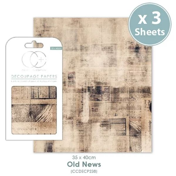 Papel decoupage Old News