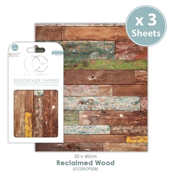 Papel decoupage Reclaimed Wood