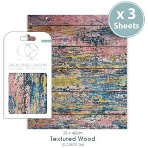 Papel decoupage Textured Wood
