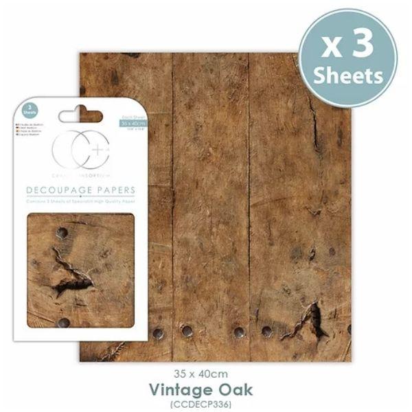 Papel decoupage Vintage Oak