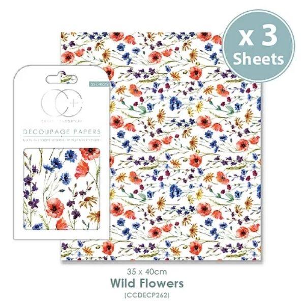 Papel decoupage Wild Flowers
