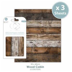 Papel decoupage Wood Cabin