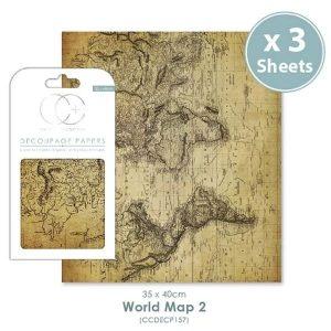 Papel decoupage World Map 2