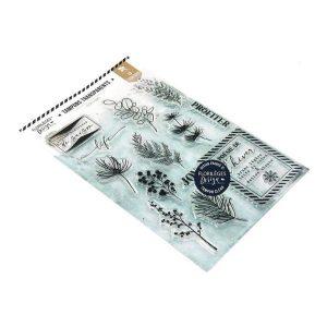 Sello acrilico poesie d hiver Florileges design | Marakiscrap.com