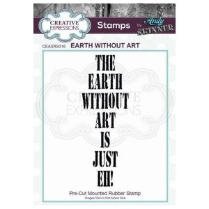 Sello caucho Earth without Art Creative Expressions