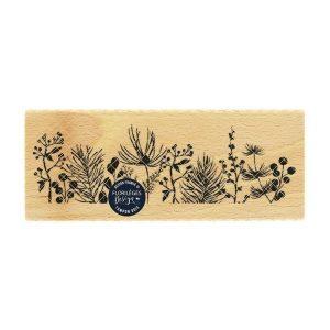 sello de madera bordure de feuillages florileges design | Marakiscrap.com