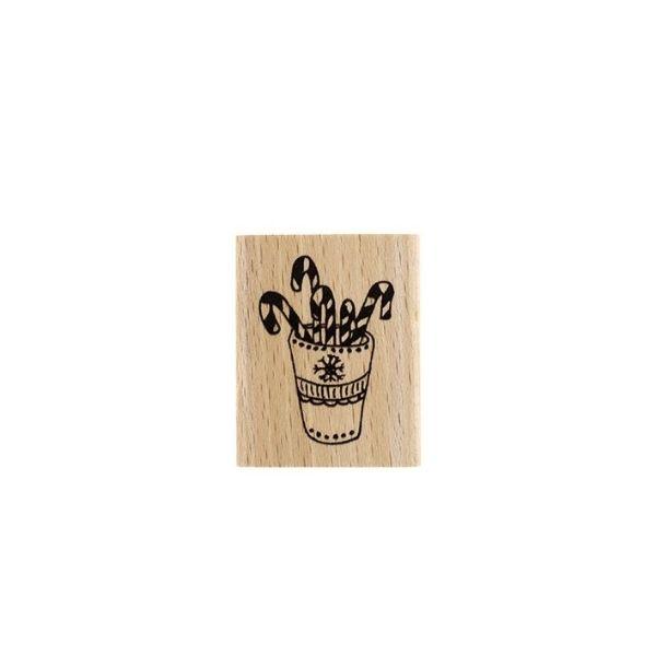 Sello de madera mug candy 1 florileges design
