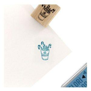 Sello de madera mug candy florileges design   Marakiscrap.com