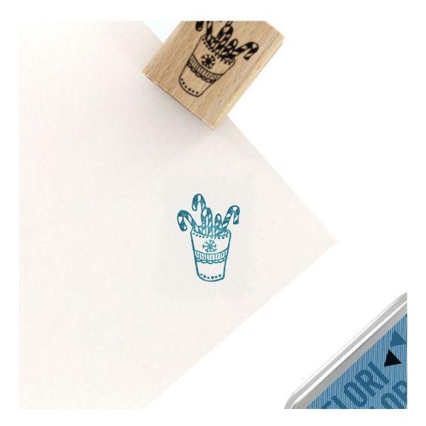Sello de madera mug candy florileges design | Marakiscrap.com